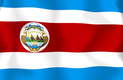 Costa Rica Flag Royalty Free Stock Photography