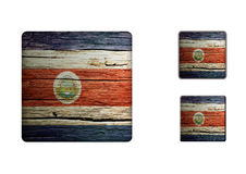 Costa-rica Flag Buttons Royalty Free Stock Images