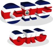 Costa Rica Flag en rompecabezas Fotos de archivo libres de regalías