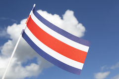 Costa Rica flag Stock Photos