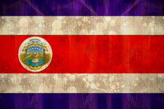 Costa rica flag in grunge effect Royalty Free Stock Photos