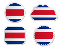 Costa Rica flag labels Royalty Free Stock Photos