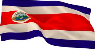 Costa rica flag waving Royalty Free Stock Image