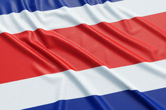 Costa Rica flag Stock Image