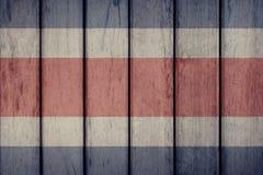 Costa Rica Flag Wooden Fence photos libres de droits