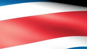 Costa rica flaga falowanie royalty ilustracja