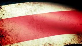 Costa Rica flaga falowanie, grunge spojrzenie ilustracji