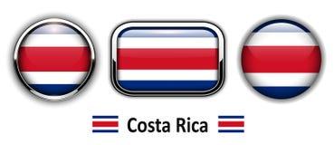Costa Rica flaga guziki royalty ilustracja