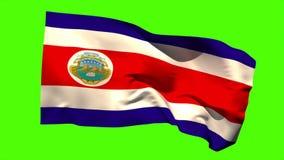 Costa rica flaga państowowa dmuchanie w popióle ilustracji