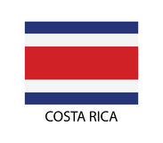 Costa Rica flagga royaltyfri illustrationer