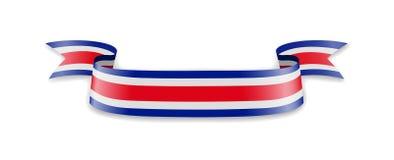 Costa Rica-Flagge in Form von Wellenband Vektor Abbildung