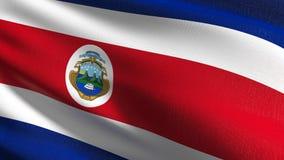 Costa Rica flagi państowowej dmuchanie w wiatrze odizolowywającym Oficjalny patriotyczny abstrakcjonistyczny projekt 3D rendering ilustracji