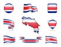 Costa Rica Flags Collection Photographie stock libre de droits