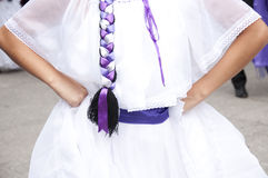 Costa Rica folk costume Stock Photography