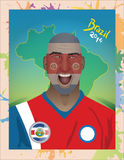 Costa rica football fan Stock Photo