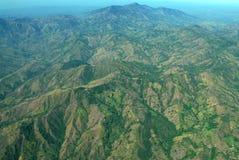 Costa Rica från luften Royaltyfri Fotografi