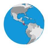 Costa Rica on globe Stock Photography