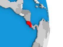 Costa Rica on globe Royalty Free Stock Photography