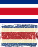 Costa Rica grunge flag. Vector illustration Royalty Free Stock Photography