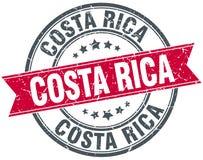 Costa Rica grunge rocznika czerwony round znaczek ilustracja wektor