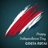 Costa Rica Independence Day Patriotic Design Immagini Stock Libere da Diritti