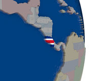 Costa Rica with its flag Royalty Free Stock Photos