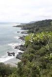 Costa Rica kustlinje Arkivfoton
