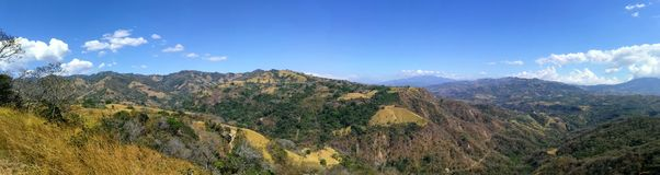 Rural zone. Mountain landscape in Costa Rica Royalty Free Stock Images
