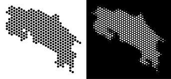 Costa Rica Map Hexagon Abstraction Imagen de archivo libre de regalías
