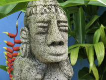 Costa Rica Mayan Sculpture royaltyfria bilder
