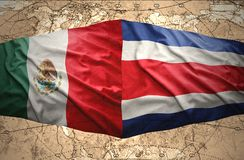 Costa Rica and Mexico Stock Image