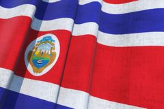 Costa Rica National Flag Stock Images