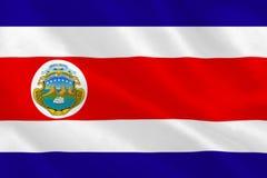 Costa Rica National Flag Fotos de archivo libres de regalías