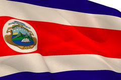 Costa Rica National Flag Royalty-vrije Stock Afbeelding