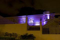 Costa Rica National Musuem at Night Royalty Free Stock Photos