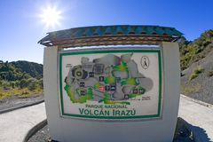 Costa Rica Parque Nacional Volcan Irazu Royalty-vrije Stock Fotografie