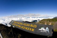Costa Rica Parque Nacional Volcan Irazu Royalty-vrije Stock Foto's