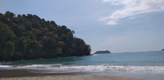 Costa Rica plaża, Manuel Antonio zdjęcie stock