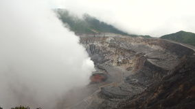 Costa Rica - Poas Volcano Crater stock video footage