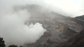 Costa Rica - Poas Volcano Crater stock footage