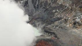 Costa Rica - Poas Volcano Crater stock video