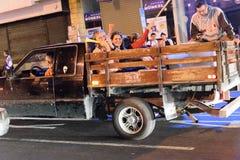 Costa Rica Presditential Election Celebration bij Nacht Royalty-vrije Stock Foto's