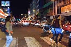 Costa Rica Presditential Election Celebration bij Nacht Royalty-vrije Stock Foto