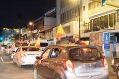 Costa Rica Presditential Election Celebration bij Nacht Royalty-vrije Stock Fotografie