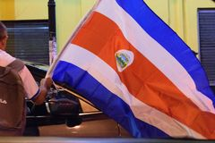 Costa Rica Presditential Election Celebration na noite Fotografia de Stock