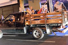 Costa Rica Presditential Election Celebration nachts Lizenzfreie Stockfotos