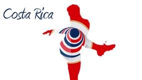 Costa rica pucharu świata 2014 animacja z graczem royalty ilustracja