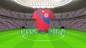Costa rica pucharu świata wiadomość z bydłem i tekstem royalty ilustracja