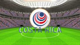 Costa Rica pucharu świata wiadomość z odznaką i tekstem ilustracji