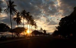 Costa Rica Puntarenas durante il tramonto fotografia stock libera da diritti